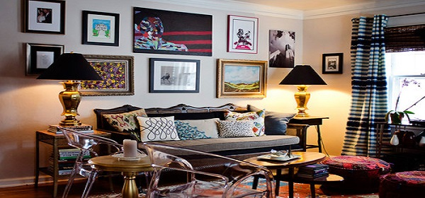 Decorating With Artwork eclectic living room