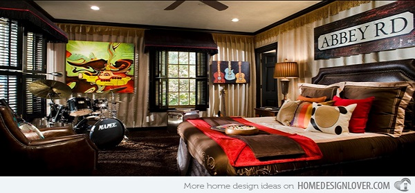 10 Interesting Music Themed Bedrooms 2 Beatles Room