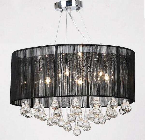 Luxury_flush_black_lampshade_freedom_chrome_and