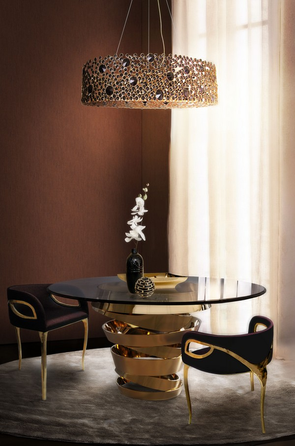 eternity-chandelier-intuition-dining-table-chandra-dining-chair-koket-projects  Look at these 10 round tables you wish to have dinner on eternity chandelier intuition dining table chandra dining chair koket projects