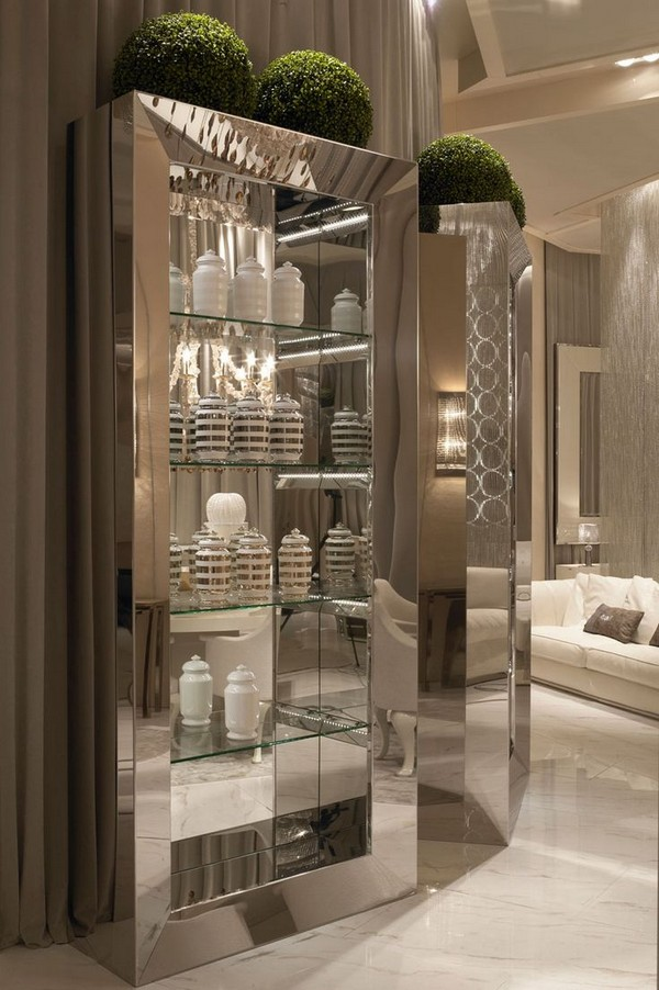 Discover special interiors with fine shelving and cabinets vidro