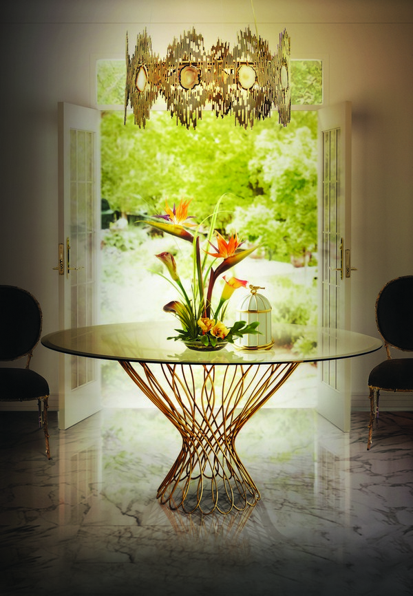 vivre-chandelier-allure-dining-table-enchanted-chair-koket-projects  Look at these 10 round tables you wish to have dinner on vivre chandelier allure dining table enchanted chair koket projects