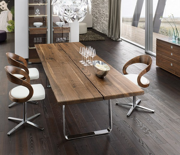luxury-walnut-metal-dining-table  10 exclusive chairs for your specials dining rooms  luxury walnut metal dining table