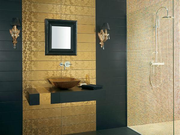 Trendy Bathroom Designs in Gold Trendy Bathroom Designs in Gold 7
