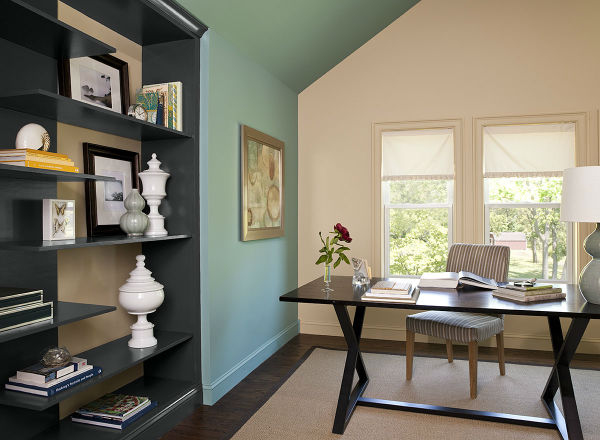 10 home office color schemes and ideas interior decoration - Colour schemes for home office ...